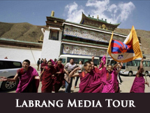 Labrang Media Tour Protest