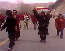 Cell phone photo Tibet Labrang